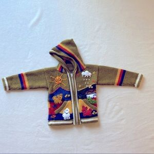 Other - Zip up alpaca and synthetic knitted sweater 2T